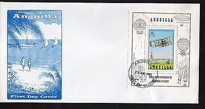 Anguilla 1983 anniv manned flight MS on FDC