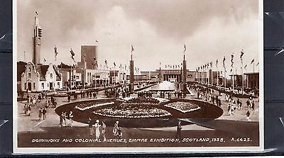 1938 Empire Exhibition postcard with label