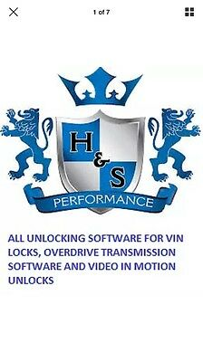 H&S Software Unlock CODES HS Vin Update Engine Instructions Mini Maxx Black Xrt