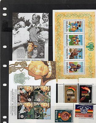 Ghana mint stamps and sheets