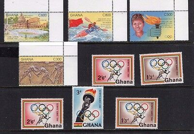 Ghana mint stamps, Olympics, incl. IMPERF MS2020