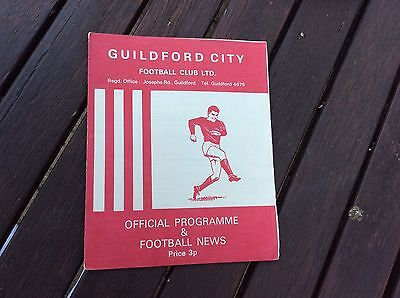 GUILDFORD CITY v BEDFORD TOWN. 1/1/1972.