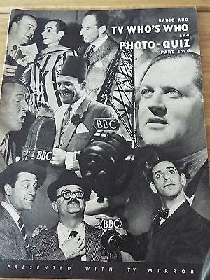 Radio & TV WHO`S WHO AND PHOTO QUIZ PART TWO 1940`s Vintage Film Entertainment