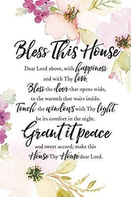 """NEW Dexsa Bless This House 6"""" x 9"""" Wood Plaque with Easel DX5005"""