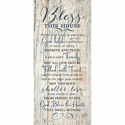 NEW Dexsa Bless This House New Horizons Wood Plaque DX8802