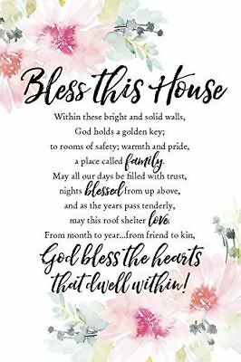 """NEW Dexsa Bless This House 6"""" x 9"""" Wood Plaque with Easel DX5023"""