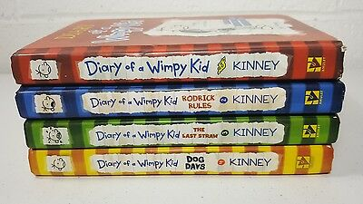 DIARY OF A WIMPY KID lot  Series Books #1-4  Hardcover books