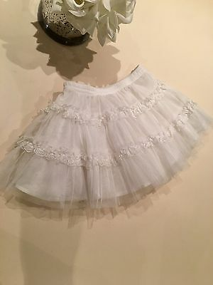 Pretty Little Girls White Tutu Skirt Age 18mths