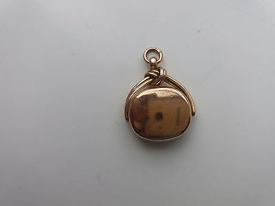 Antique 15ct yellow gold swivel watch fob 9 grams set with gold back