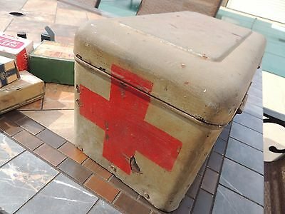 First Aid Box Vintage MEDICAL BANDAGES & TAPE &  FIRST AID Misc.