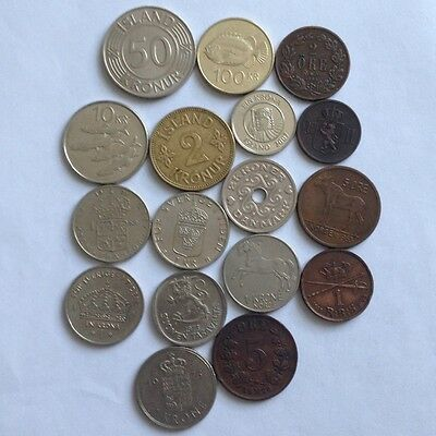18 x Nordic Countries Coins