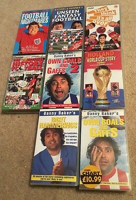 Job Lot of VHS Video Cassette Pre-recorded Tapes Football Related