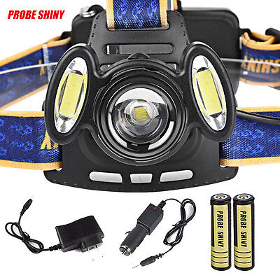 15000Lm Headlamp 3x XML T6 Rechargeable Head Light Torch Lamp+18650+Charger Kit