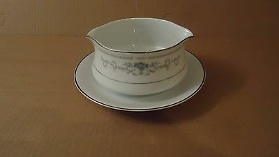 Vintage DIANE GRAVY BOAT WITH ATTACHED UNDERPLATE  FINE CHINA OF JAPAN