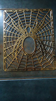 """24k gold plated  Spider  Ornament window hanger 5"""" x 6"""""""
