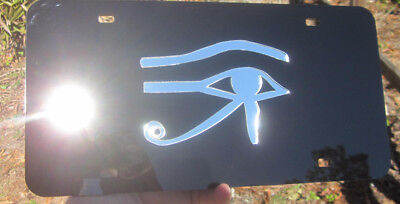 Eye of Horus Egypt MIRRORED ACRYLIC LASER CUT LICENSE PLATE 1 plate only!