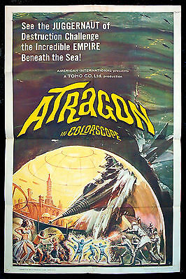 ATRAGON original 1965 US one-sheet JAPANESE SCI-FI REYNOLD BROWN