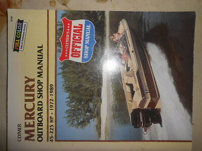 Clymer Mercury Outboard Manual 45-225 hp 1972 - 1989