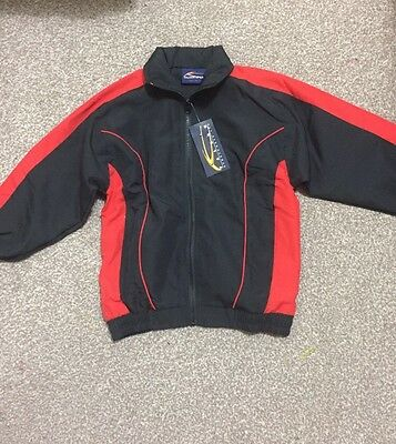 """Falcon Boys Red Tracksuit Top 26"""" Age 6-7 7-8?"""