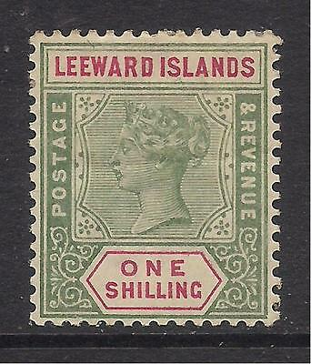 LEEWARD ISLANDS  1890  1s green & carmine  SG7  MM