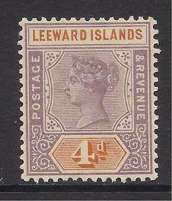 LEEWARD ISLANDS  1890  4d dull mauve & orange  SG4  LMM