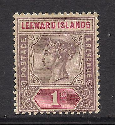 LEEWARD ISLANDS  1890  1d doll mauve & rose  SG2  MM