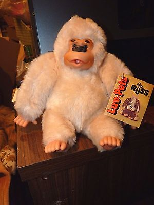 Vintage 1979 Rare Russ   Luv-Pets  Gonga Monkey Ape Sucks Thumb Original Tags