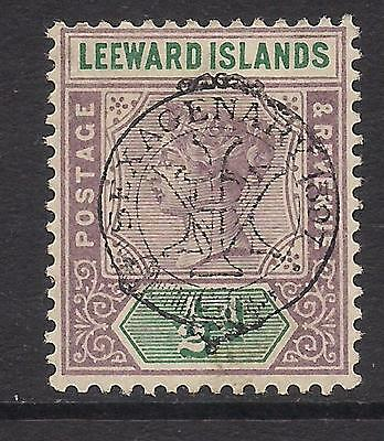 LEEWARD ISLANDS 1897  opt  1/2d dull mauve & green  SG9  MM