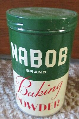 Vintage NABOB Brand BAKING POWDER TIN....NICE