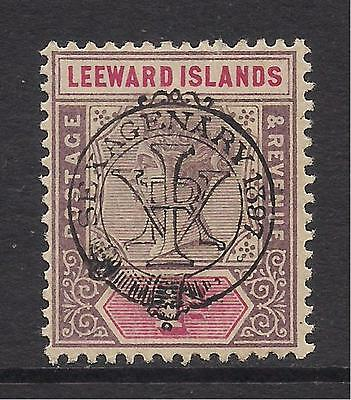 LEEWARD ISLANDS  1897  opt  1d dull mauve & rose  SG10  MM