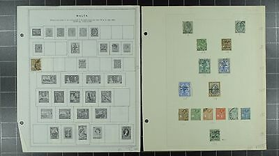 Weeda Malta 8//640, B1//MR1 Mint & Used collection on album pages CV $235.25