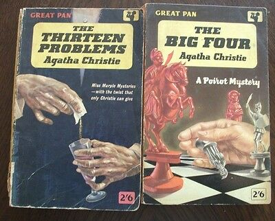 Agatha Christie - The Thirteen Problems & The Big Four - Great Pan 1961 1st PBs