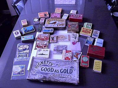 Collection of Old Cigarette packets/Tins Etc.