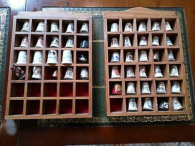Thimbles job lot comes with two wood display