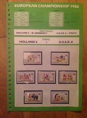 European Championship 1988 - Official Stamps