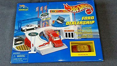 Hot Wheels Ford Dealership Play Set.  New In Box