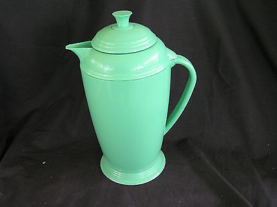 Fiesta Green Insulated Thermal Thermos Pitcher Decanter Carafe Plastic Glass