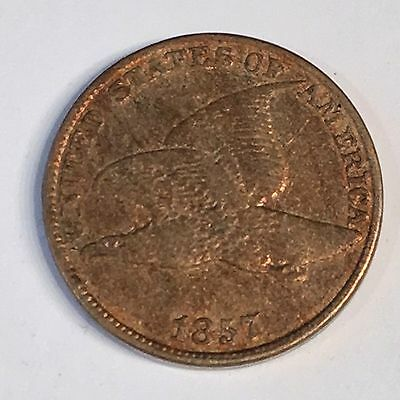 1857 Flying Eagle Cent - Circulated - High Quality Scans #C536