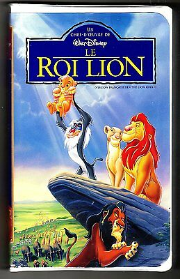 Le Roi Lion  (VHS ) FRENCH ONLY!  (Walt Disney)
