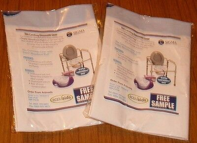 2 x The Carebag Commode Liners
