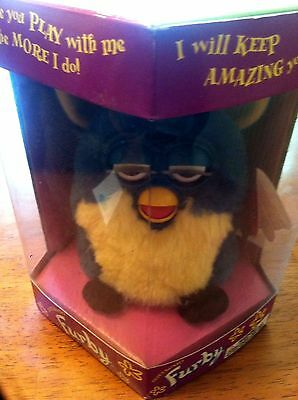 Original 1998 Furby Tiger Electronics Model 70-800 Teal-Blue Unopened Nib New