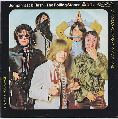 The ROLLING STONES * Jumpin' Jack Flash * 1967 JAPANESE 45 *