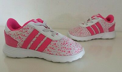 Infants Adidas Lite Racer NEO Label Trainers, Size UK 6 Infant, Pink / White