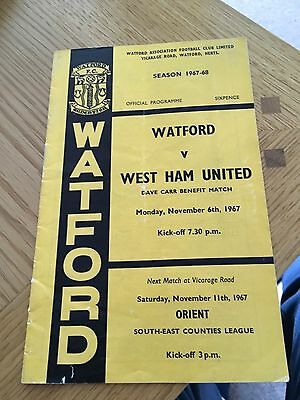 Watford v West Ham 6.11.1967 Dave Carr Benefit Match