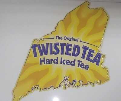 Twisted Tea Maine Metal Tin Sign Advertising Bar Beer Pub 3' X 2' New