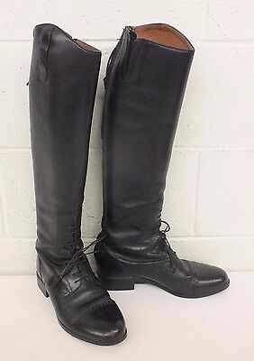 Ariat Challenge Contour Tall Slim Black Leather Zip Riding Boots US 9/40 GREAT