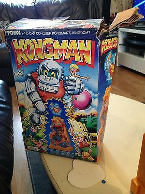 Tomy KongMan Boxed Vintage Working Electronic Game With Ball 1980s Great Fun