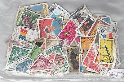 Tchad Republic - Packet With 200 Stamps M/u Good Thematics