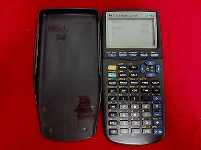 Texas Instruments TI-83 Graphing Calculator TESTED