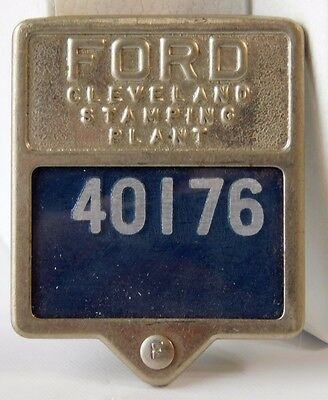 Vtg FORD MOTORS Cleveland Ohio Stamping Plant Employee Pin Badge